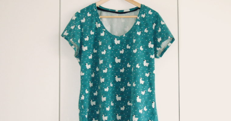 J'ai cousu : le t-shirt Plantain de Deer&Doe