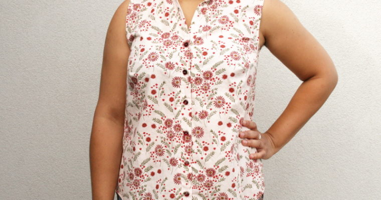 J'ai cousu: la chemise Archer de Grainline Studio sans manches