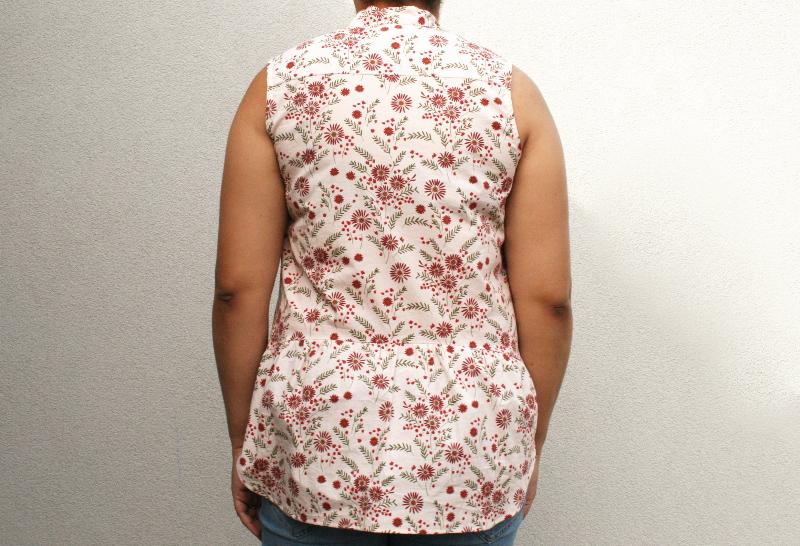 Blog couture : Archer sans manche en tissu Lise Tailor - vue de dos