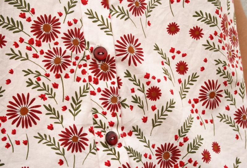 Blog couture : Archer sans manche en tissu Lise Tailor - boutons