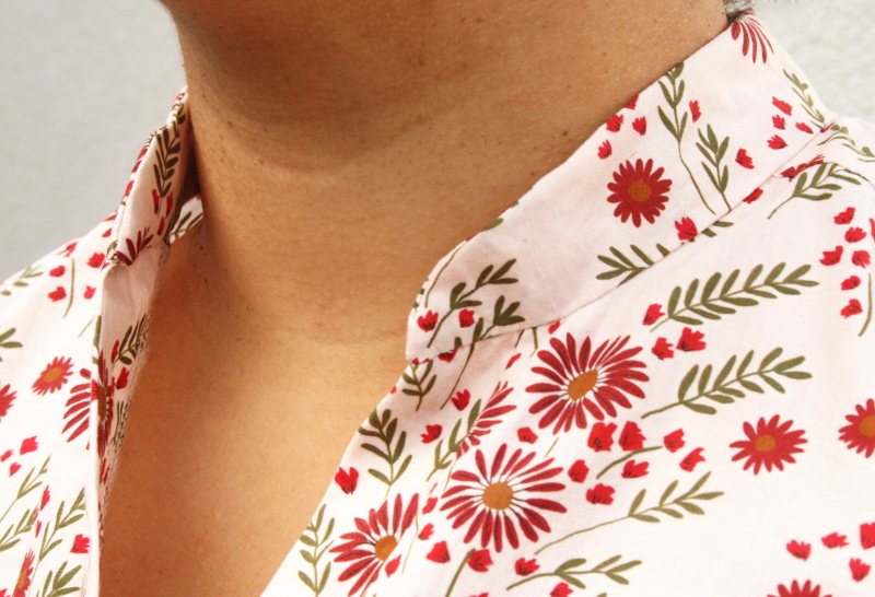 Blog couture : Archer sans manche en tissu Lise Tailor - col