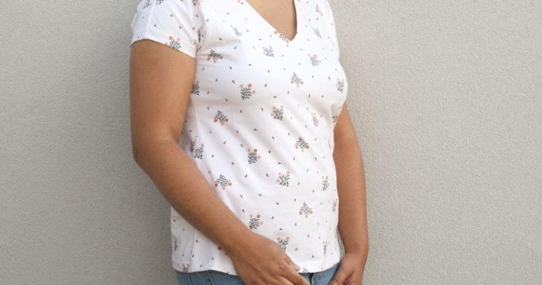 J'ai cousu : le t-shirt Dressed de Deer&Doe dans un tissu Lise Tailor
